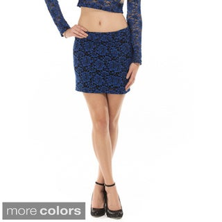Queen Anne's Women's Lace Mini Skirt