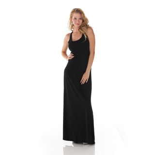Women's Classic Black Sleeveless Maxi Dress