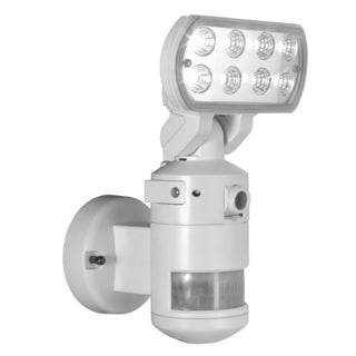 NightWatcher Robotic Security Light with Camera-LED (White)