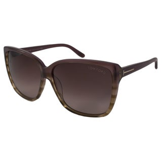 Tom Ford Women's TF0228 Lydia Rectangular Sunglasses