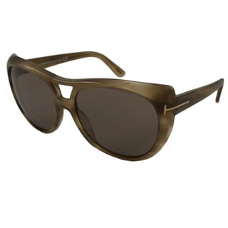 Tom Ford Women's TF0294 Claudette Rectangular Sunglasses