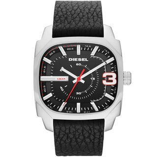 Diesel Men's DZ1652 Shifter Black Leather Watch