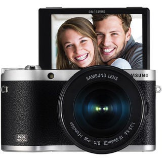 Samsung NX300M Mirrorless 20.3MP Wi-Fi Black Digital Camera Body with 18-55mm OIS Lens