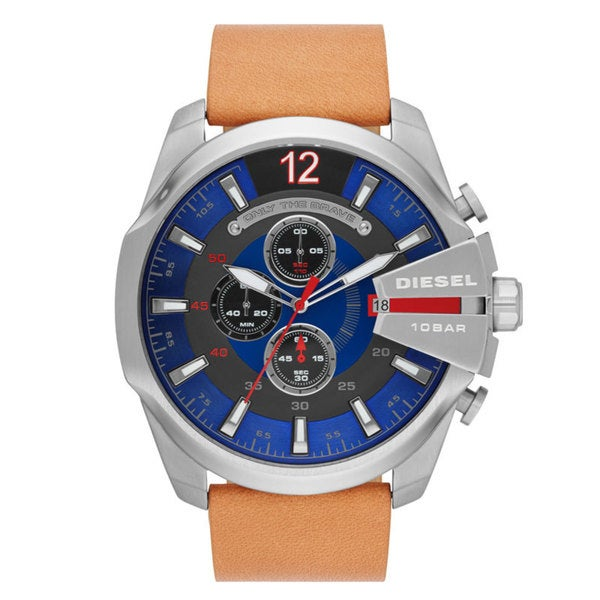 Diesel Men's DZ4319 Mens Mega Chief Blue Dial Chronograph Watch