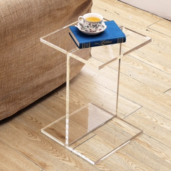 Clear acrylic accent table 16344299 overstockcom for Overstock acrylic coffee table