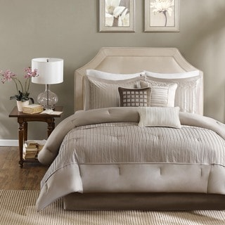 Madison Park Channing Taupe 7-piece Comforter Set