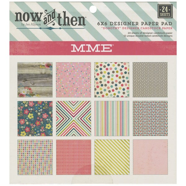 "Now & Then Dorothy Paper Pad 6""X6"" 24/Sheets-Double-Sided"