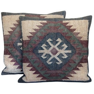 Herat Oriental Indo Kilim Throw Pillows (Set of Two)