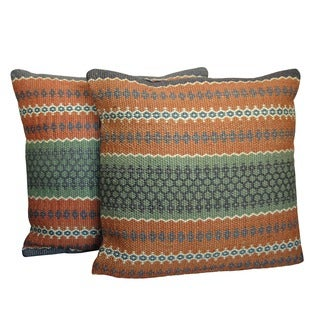 Set of 2 Herat Oriental Indo Kilim Throw Pillows (India)