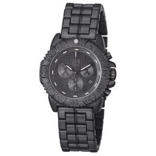 Luminox Men's A.3082.BO 'Colormark' Black Dial Black Polycarbonate Bracelet Chronograph Watch