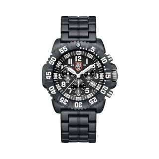 Luminox Men's A.3082 'Colormark' Black/White Dial Black Polycarbonate Bracelet Chronograph Watch