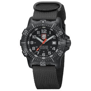 Luminox Men's A.4221.CW 'Anu' Black Dial Black Fabric Strap Quartz Watch