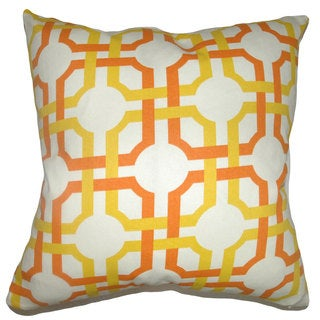 Aebba Tile Down Fill Sungold Throw Pillow
