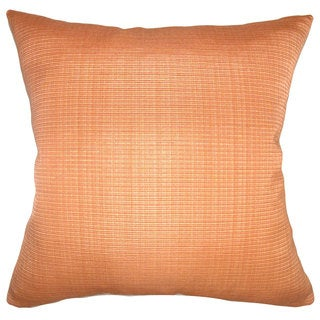 Waer Plain Down Fill Orange Throw Pillow