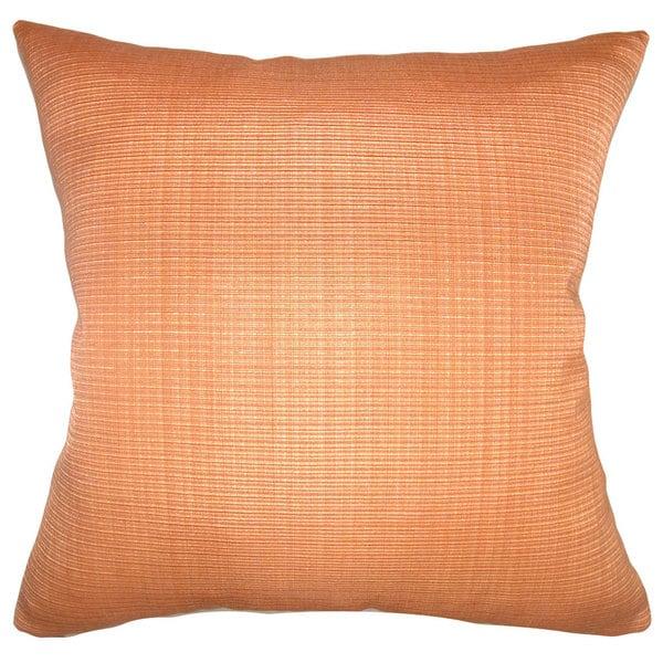 Waer Plain Down Fill Orange Throw Pillow