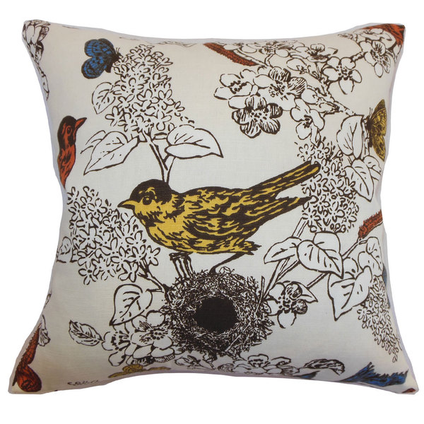 Ouvea Multicolor Birds Throw Pillow
