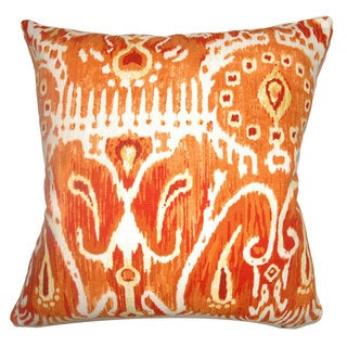 Haestingas Ikat Down Fill Pumpkin Throw Pillow