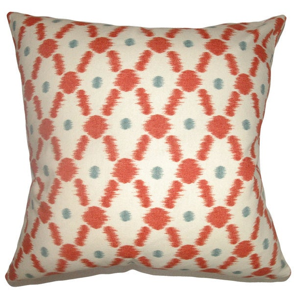 Farlow Link Down Fill Poppy Red Throw Pillow