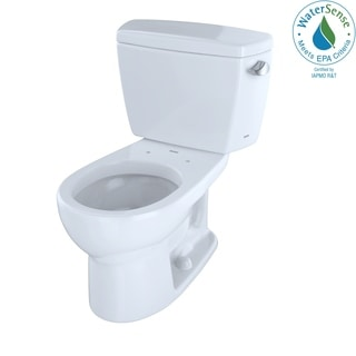 Toto Eco-drake Round Bowl Toilet with Right Hand Tank, Less Seat