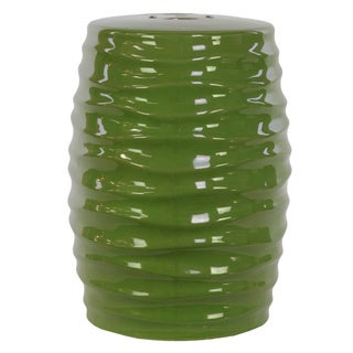 Urban Trends Green Ceramic Garden Stool