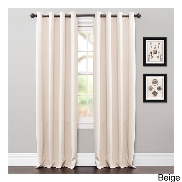 Lush Decor Jamel Blackout Curtain Grommet Top Panel Pair