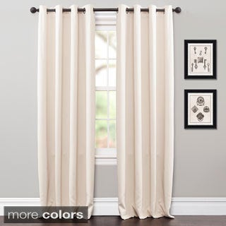 Lush Decor 84-inch Jamel Blackout Curtain Grommet Top Panel Pair