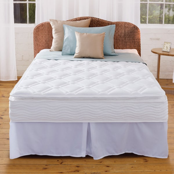 Priage 10-inch Pillow Top Twin-size iCoil Spring Mattress and Steel Foundation Set
