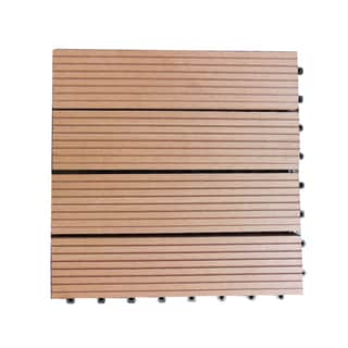 Century Outdoor Living 12x12 Composite Patio Interlocking DIY Deck Tiles (Box of 10)