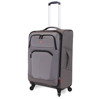 Wenger NeoLite Plus Grey 24-inch Medium Spinner Upright Suitcase