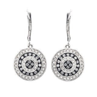 Sterling Silver 3/4ct TDW SilverMist White Diamond Earrings (H-I, I2-I3)