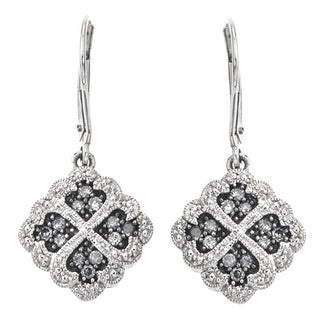 Sterling Silver 1/3ct TDW SilverMist Grey Diamond Earrings