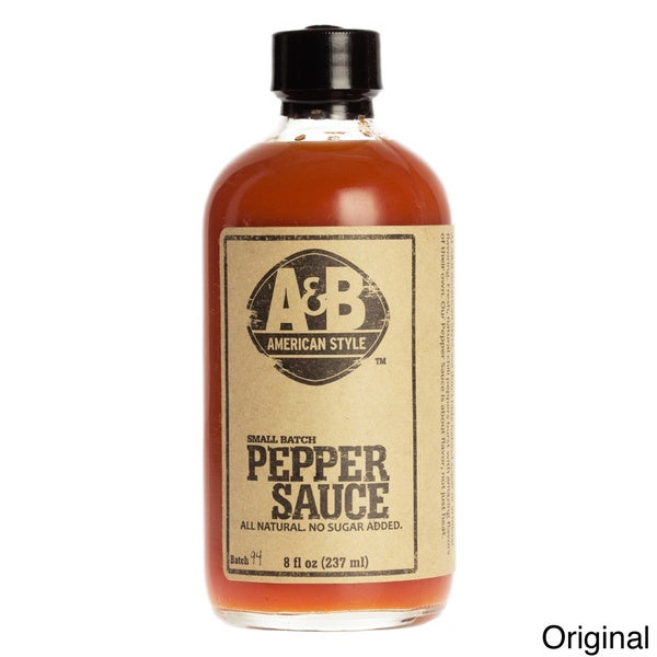 A&B American Style 8-ounce All-natural Pepper Sauce (Set of 2)