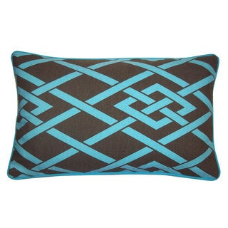 12 x 20-inch Point Brown Throw Pillow