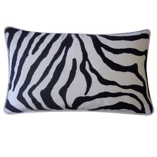12 x 20-inch Desert Black Throw Pillow