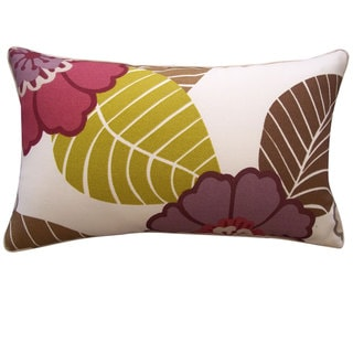12 x 20-inch Dahlia Berry Throw Pillow