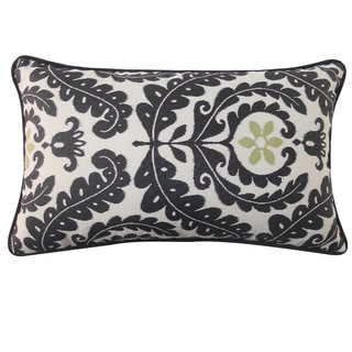 12 x 20-inch Shine Black Throw Pillow