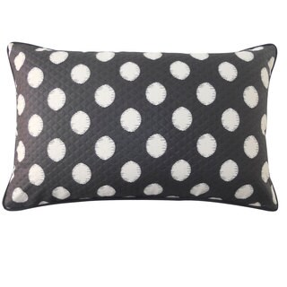 12 x 20-inch Spot Black Throw Pillow