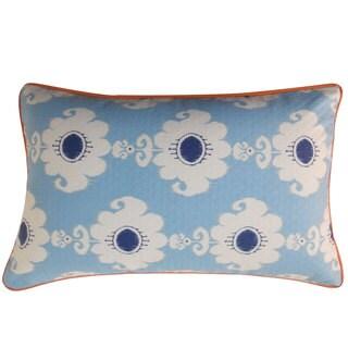 Rose Blue Throw Pillow
