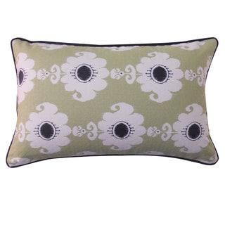 12 x 20-inch Rose Green Throw Pillow