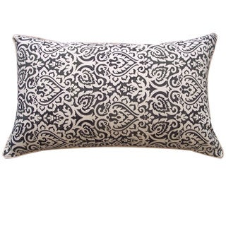 12 x 20-inch Jaipur Black Throw Pillow