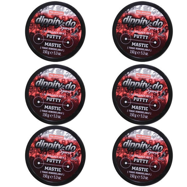 Dippity-do Sport Re-Working Hold 5.3-ounce Hair Putty (Pack of 6)
