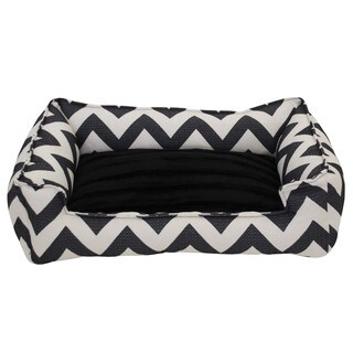 Jagged Black Chill Pet Bed
