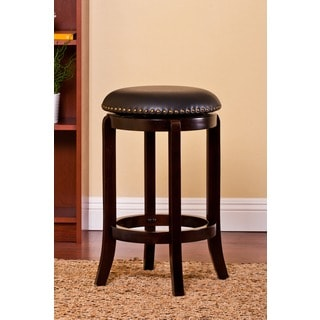 Plush Nailhead Rimmed Swivel Stool