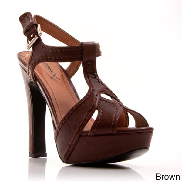 nger 02' T-strap Plaform High Heel Sandals
