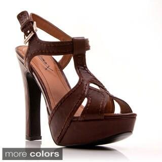 Gomax Women's 'Cliff Hanger 02' T-strap Plaform Heel