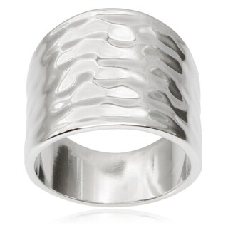 Journee Collection Brass Hammered Finish Ring