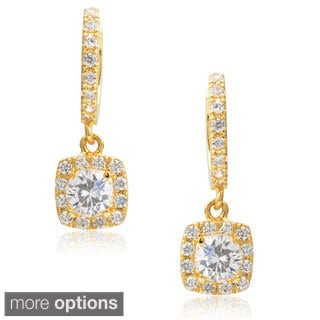 Journee Collection Brass Cubic Zirconia Dangle Earrings