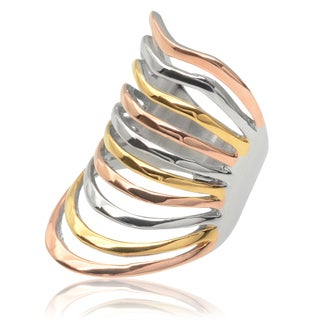 Tressa Collection Stainless Steel Tri-tone Ring