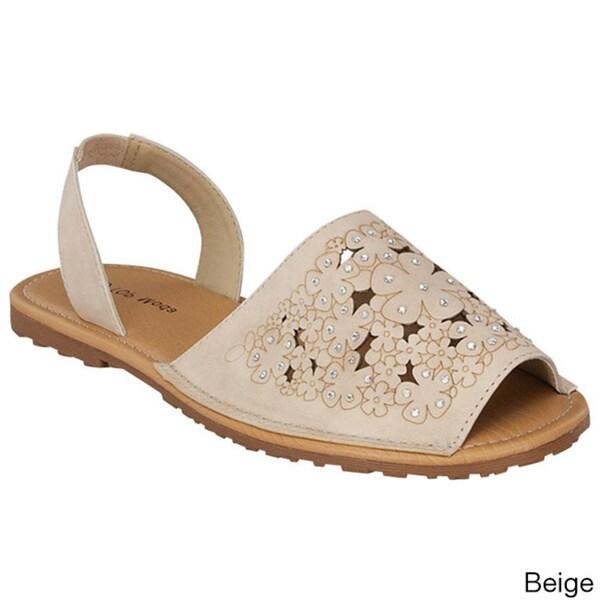 Top Moda Women's 'B-78' Peep-toe Slingback Sandals