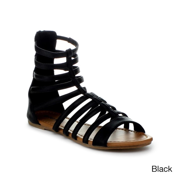Top Moda Women's 'Anna-19' Flat Gladiator Sandals